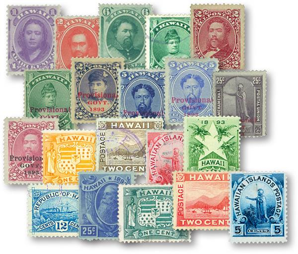 1864-99 Hawaii, set of 20