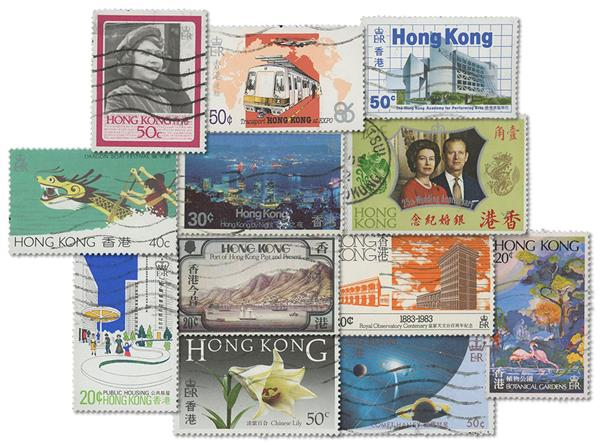 29 different used Hong Kong stamps issued 1954-85
