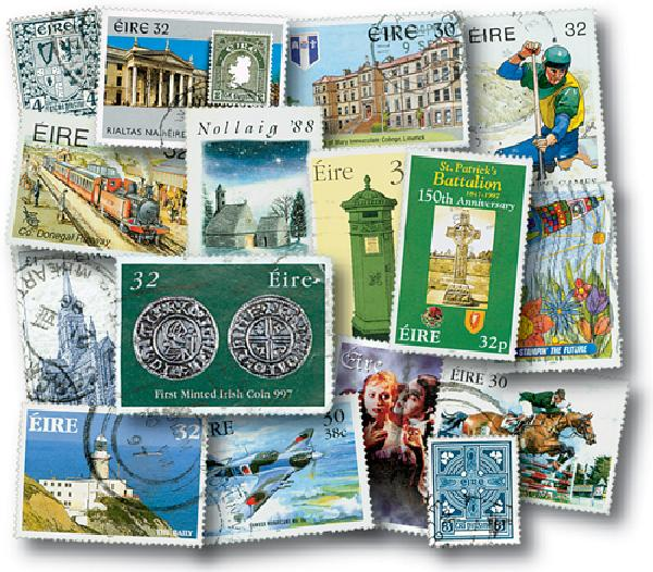 Ireland 250 stamps used