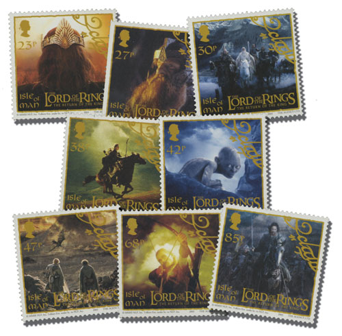 2003 Isle of Man Complete Set of 8 Lord of The Rings with souvenir folio