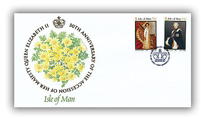 2002 Queen's Golden Jubilee Isle of Man FDC