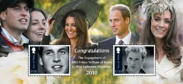 2010 Isle of Man William & Kate Shtlt M