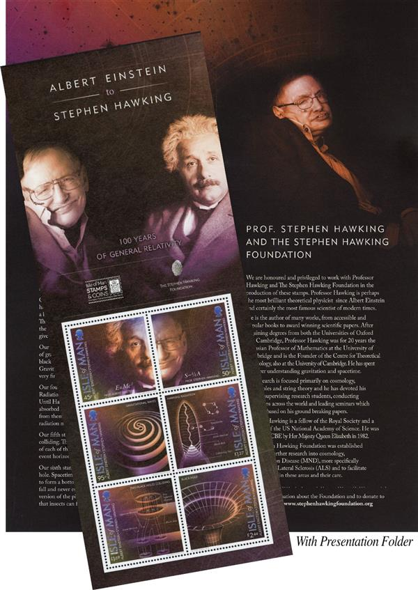 2018 Albert Einstein to Stephen Hawking: 100 Years of Relativity sheet of 6