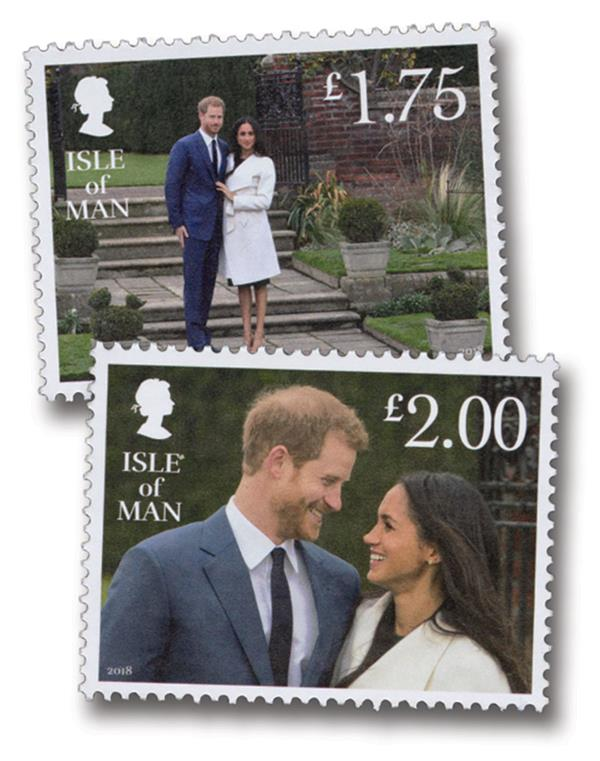 2018 £1.75 Prince Harry & Meghan's Royal Engagement, two single stamps