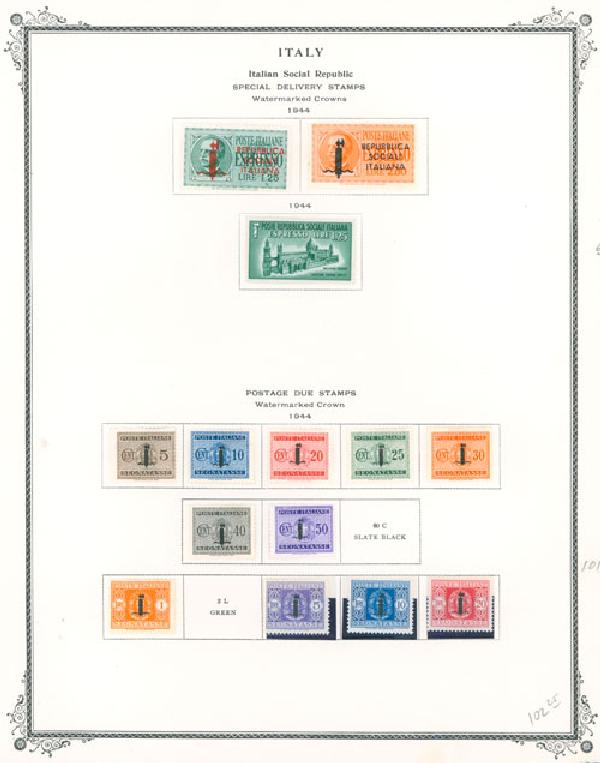1874-1944 Italian Colonies
