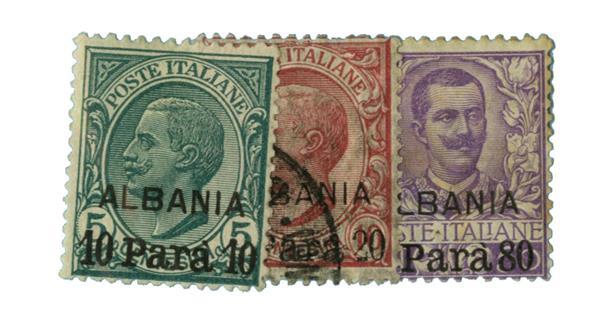 1907 Italian Offices - Albania