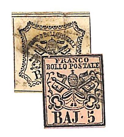 1852 Italian States-Roman States