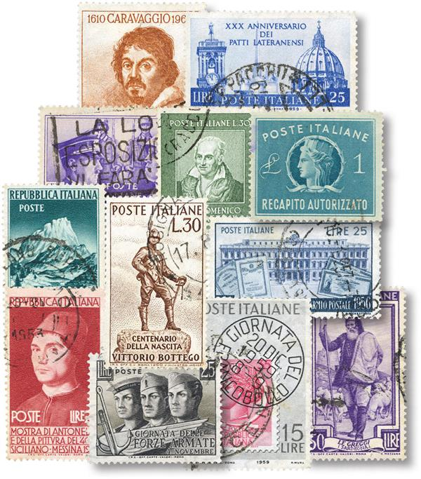 Italy 50 Different Stamps