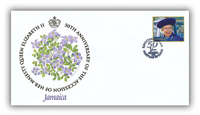 2002 Queen's Golden Jubilee Jamaica FDC
