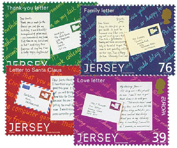 2008 Jersey Europa Letters 4v