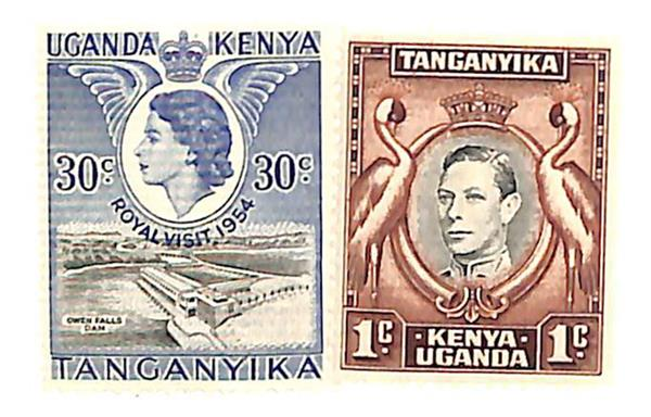 1942-54 Kenya, Uganda, & Tanzania