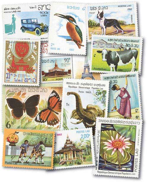 1982 Laos set of 73, mint