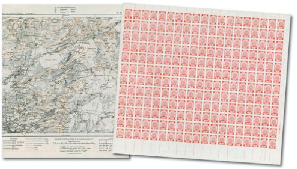 Latvia WWI Map Stamps Perf & Imperf