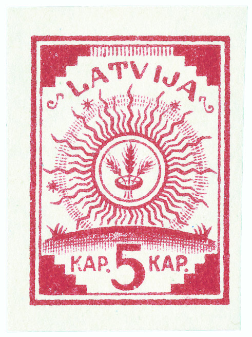 Latvia Map Stamp (single)