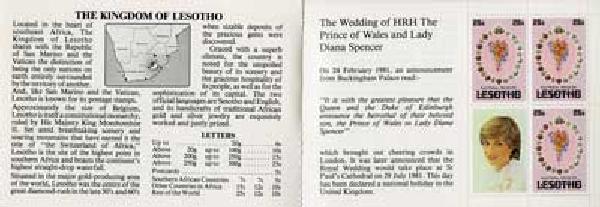 1981 Lesotho#337c Diana Wedding Bklt.