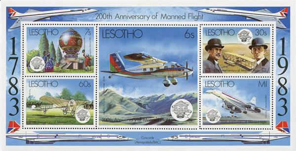 1983 200th Anniversary of Manned Flight Sheet of 5