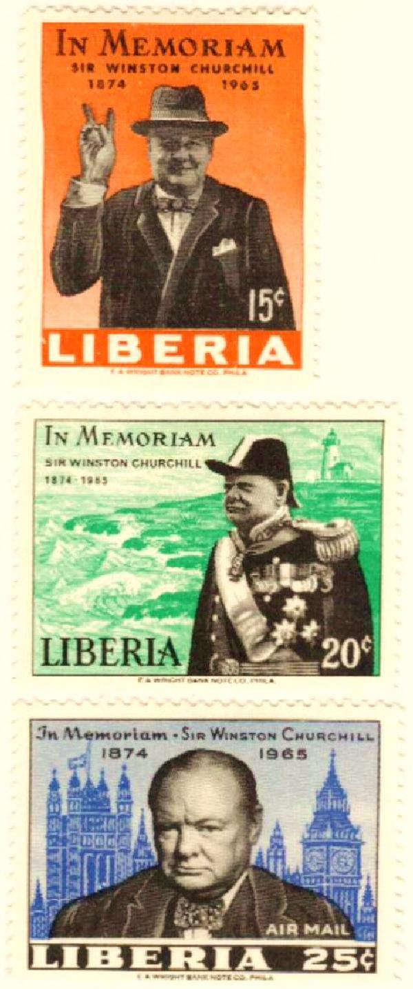 Liberia #432/C170 – Churchill produced almost 600 paintings during his lifetime.
