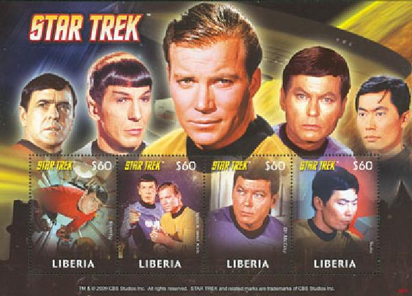 2008 Liberia Star Trek 4v M