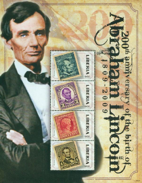 2008 Liberia Abraham Lincoln 4v Mint