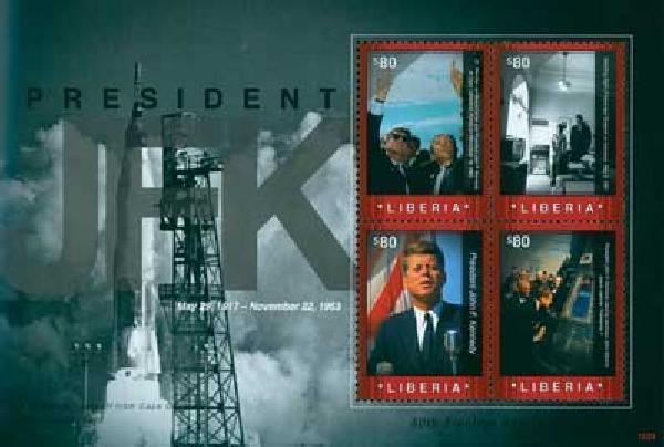 2010 Liberia JFK Election Anniv. 4v