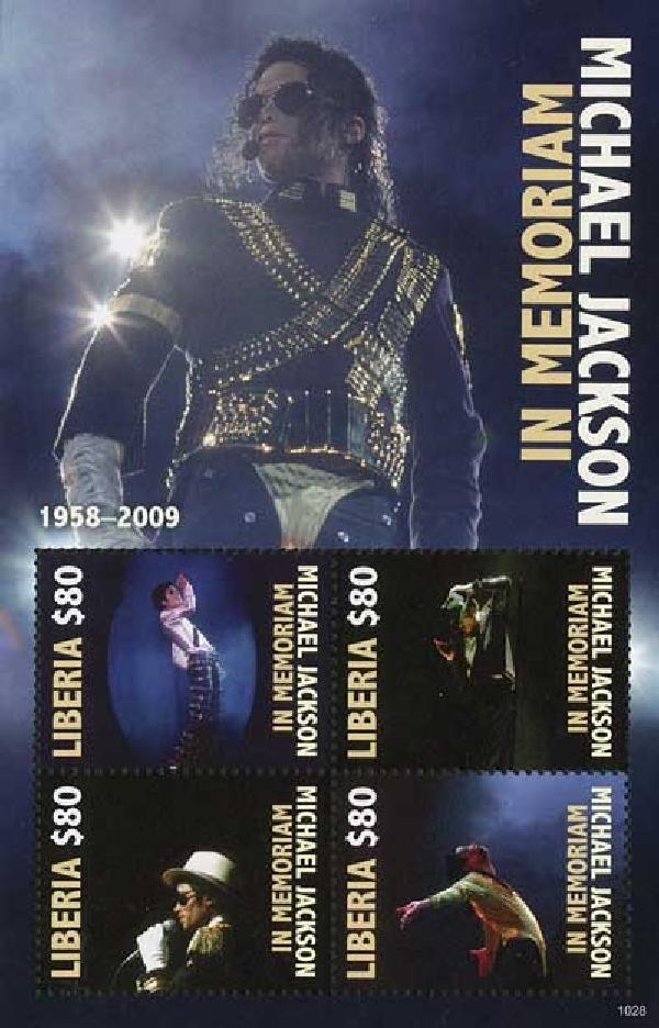 2010 Liberia Michael Jackson 4v Mint