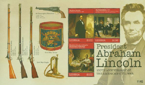 2011 Liberia Lincoln 3v Mint