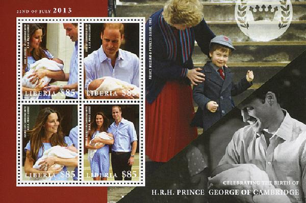 2013 Liberia Will & Kate w Prince George
