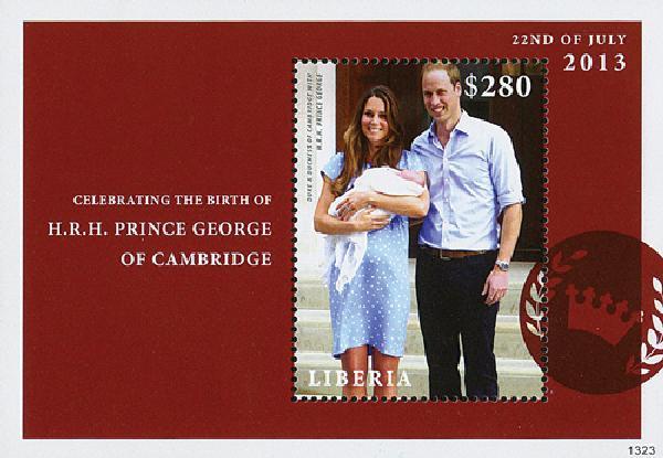 2013 Liberia s/s Will&Kate w Prince Geor