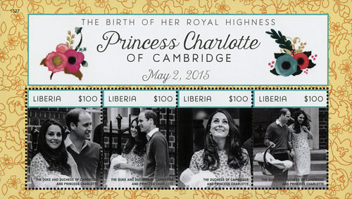 2015 $100 Will & Kate Kate holding Princess Charlotte