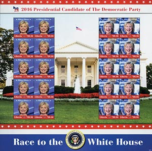 2016 $20.16 Hillary Clinton sheet of 20