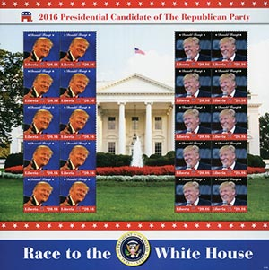 2016 $20.16 Donald Trump sheet of 20
