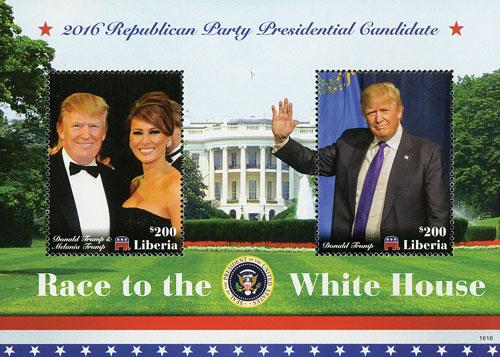 2016 $200 Donald & Melania Trump s/s