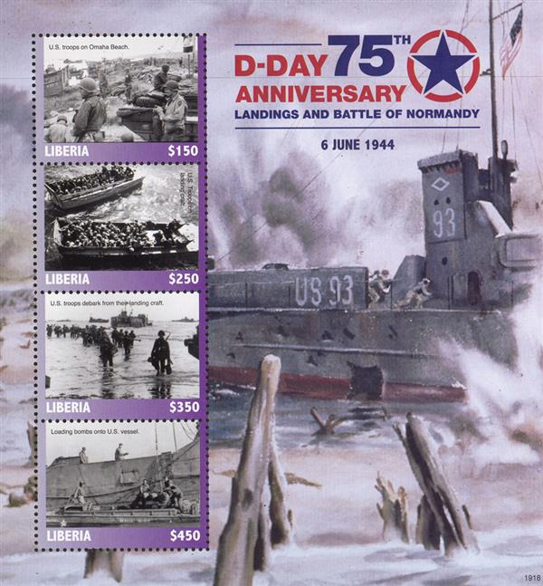 2019 $150 D-Day 75th Anniversary sheet of 4
