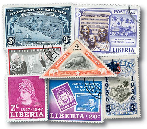 Liberia 100 stamps