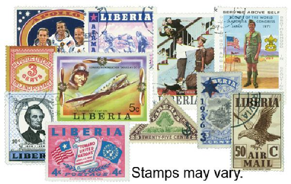 Liberia 400 stamps Used