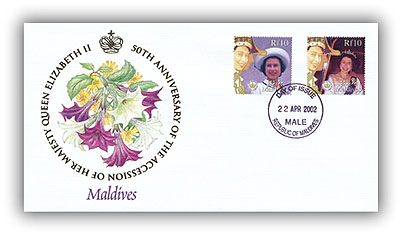 2002 Queen's Golden Jubilee Maldives FDC