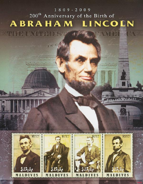 2008 Maldives Abraham Lincoln 4v Mint