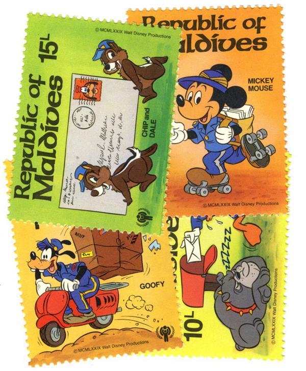 Maldives 1979 IYC Disney Postal Scenes