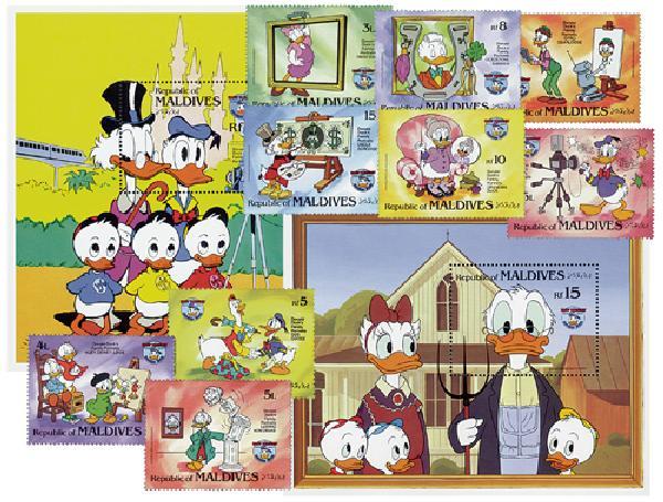 Maldives 1984 Donald Duck, 50th Anniv.