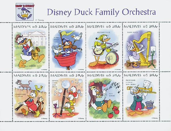 Maldives 1995 Duck Orchestra, 8/sheetlet