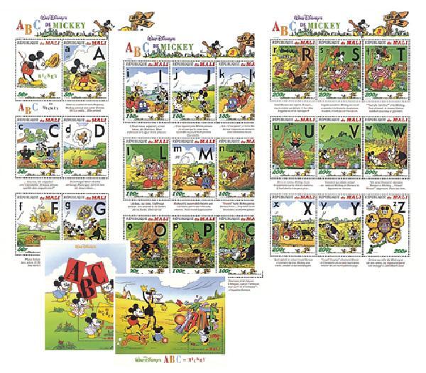 Mali 1996 Mickey's ABC's