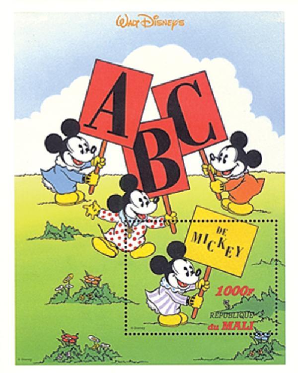 Mali 1996 De Mickey sign, Mint S/S