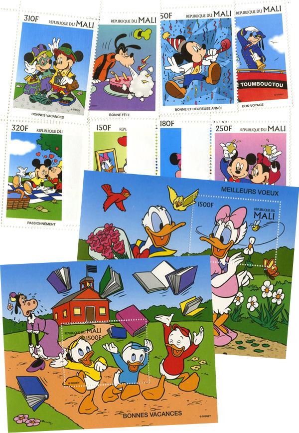 Mali 1997 Disney 'Greetings' Stamps