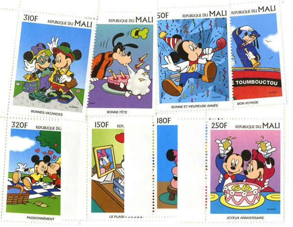 Mali 1997 Disney Greetings, 8 Stamps