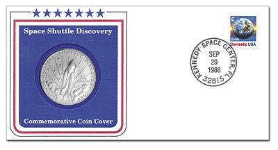 1988 Space Shuttle Discovery Coin Cover