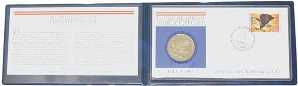 1991 Desert Storm, Coin Cover