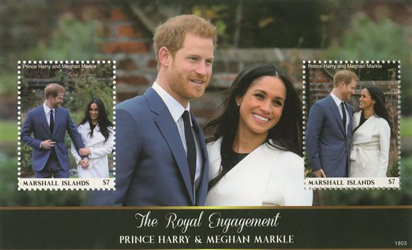2018 $7 Prince Harry & Meghan Markle - The Royal Engagement s/s of 2