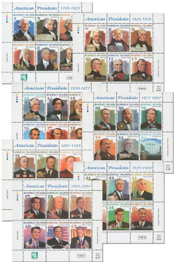 2000 Presidents Sheets #732-38