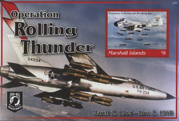 "2020 $8 Vietnam War - ""Operation Rolling Thunder"", Mint Sheet, Marshall Islands"