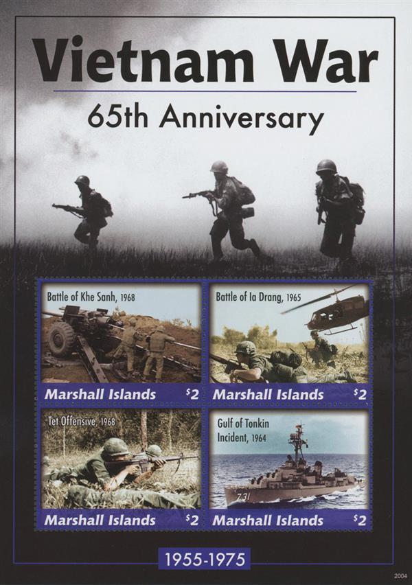 2020 $2 Vietnam War - 65th Anniversary, Mint Sheet, Marshall Islands